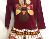 Gobble, Gobble Turkey Dress - Girls Thanksgiving Dress Outfit - READY TO SHIP