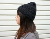 SALE Lazy Day Hat in Heather Black - Ready to Ship