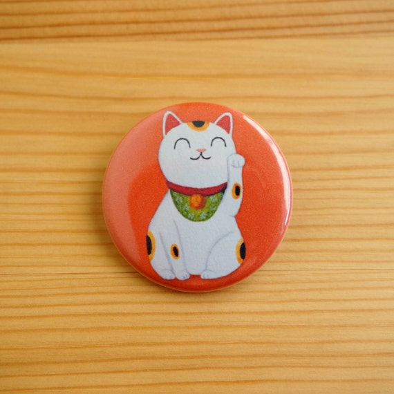 Lucky Cat 1.5 inch Pinback Button