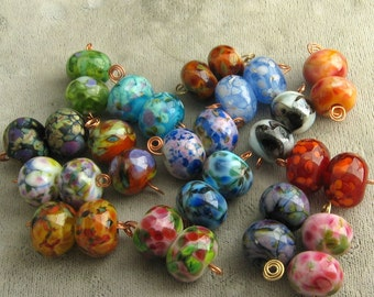 You Pick 3 Earring Pairs from these Lampwork Beads