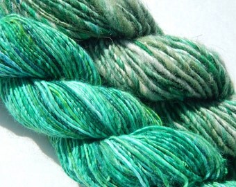 Greens Bundle-Handspun Yarn