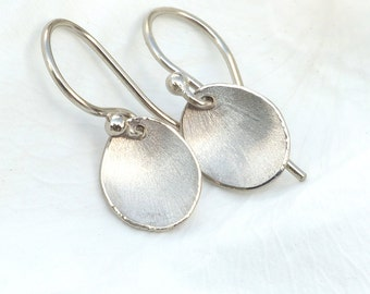 Flower Petal Earrings in 18ct White Gold, Eco Friendly