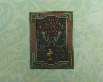 Dollhouse Miniature Victorian Floral Wall Panel