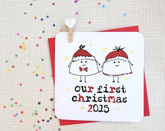 our first christmas 2015 xmas card
