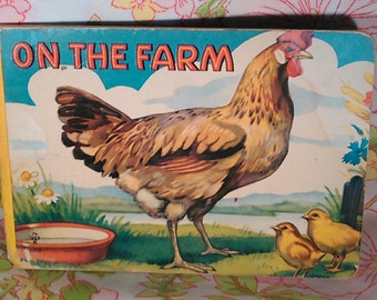 On the Farm Board Book - Vintage Book