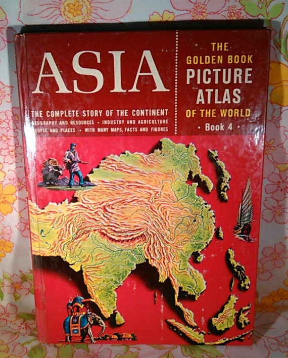 Asia The Golden Book Picture Atlas of the World Book 4 - Dorothy W. Furman - 1960 - Vintage Book