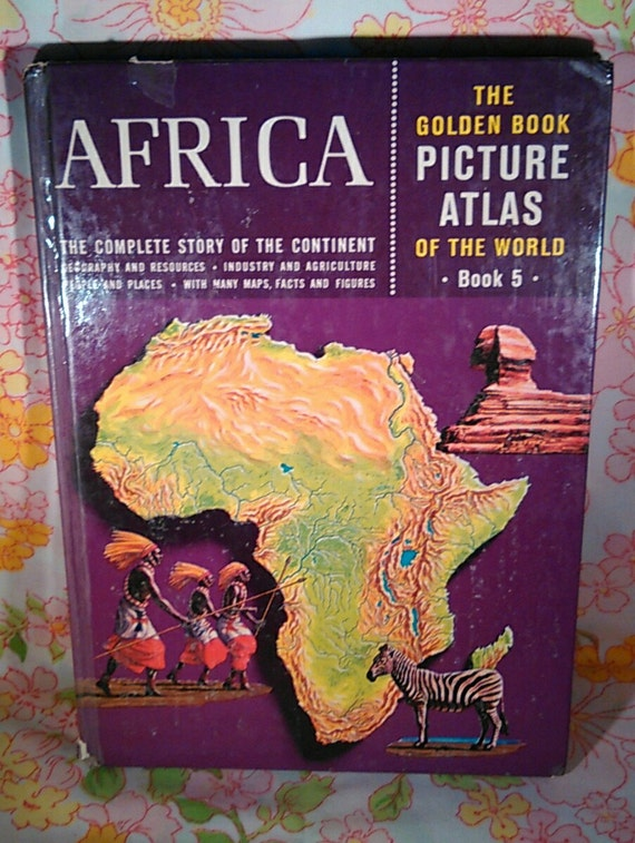 Africa The Golden Book Picture Atlas of the World Book 5 - Norman Lobsenz - 1960 - Vintage Book