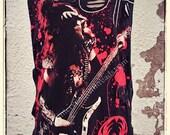 Unisex Custom Distressed Shredded Tank Top Rock T-Shirt KISS Gene Simmons The Demon