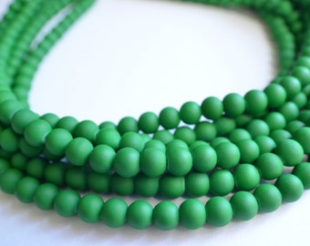 The Michelle- Emerald Green Matte Chunky Necklace