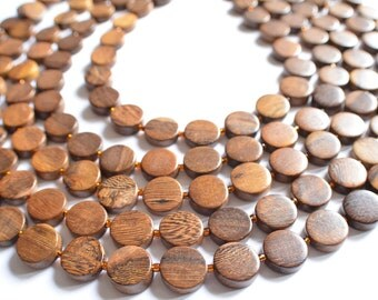 The Charlotte- Wood Multi Strand Statement Necklace