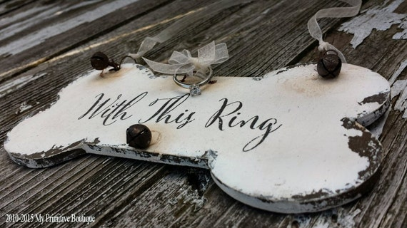 DOG RING BEARER Sign | Just Married Sign | Signs for Dogs | Chalkboard Sign | Double Sided | With This Ring | Dog Bone | Ceremony Ideas