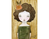 Autumn - Giclee Reproduction Of Original Watercolor Painting By Danita Art (Paper Prints and ACEO Wood Mounted)