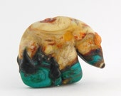 Glass Spirit Bear Fetish Southwestern Style Handmade Bead or Sculpture by Marcy Lamberson
