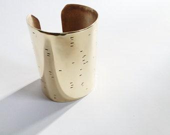 b i r c h l i n e statement cuff - wrist wear amazingness - for woodland meditation
