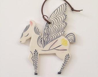 Wall Ornament || Ceramic Pegasus no. 6