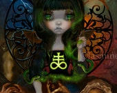 Unseelie Court: Envy dark fairy art print by Jasmine Becket-Griffith 8x10 7 seven deadly sins