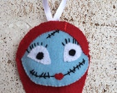 RESERVED Nightmare Before Christmas Sally Ornament Christmas felt