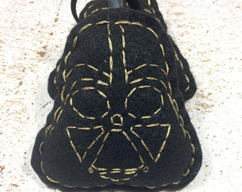 Gold Embroidered Darth Vader  Ornament Hanging