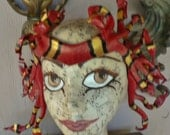 Coral Snake Medusa Crown, leather snake headpiece by Faerywhere