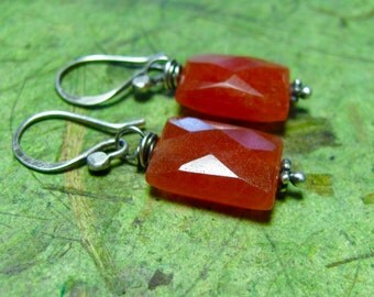 Sunset - Carnelian and Sterling Silver Earrings