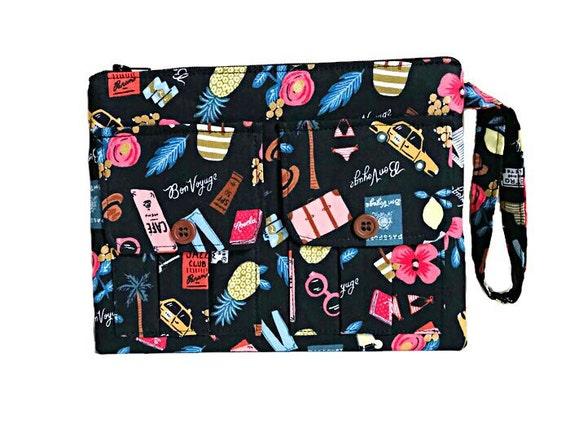Black Wallet Wristlet, Smartphone Wristlet Wallet for Women, Black Wristlet Purse, Large Wristlet, Womens Wallet Purse, Wrist Wallet