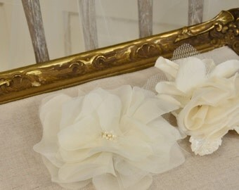Bridal Hair Flower, Silk Hair Flower, Blossom Hair Comb