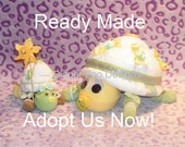 Diaper Cake TURTLES, baby shower gift ,new baby, centerpiece,unique & ready made. Neutral Gender