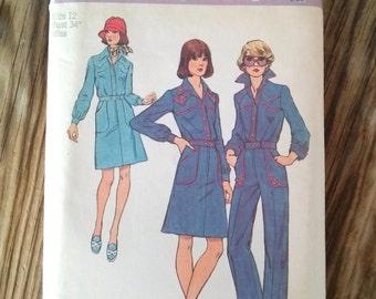 Vintage 1970s Pattern 70s Westernwear Skirt Pants Blouse Simplicity 6286 B34 2016335