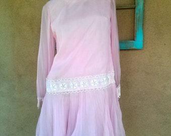 Vintage 1960s Dress Mini Dolly Lolita Baby Doll US6 B36 2013663