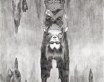 Batcave print by Johanna Öst