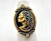Coreen Simpson Avon Regal Beauty Collection Cameo Ring - Vintage Avon Jewelry - Size 8
