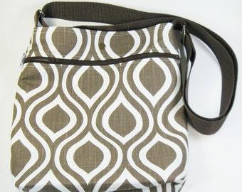 Across Body Bag / Over the Shoulder Bag / Crossbody Handbag - Chocolate Mod