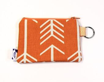 Coin Purse / Change Purse / Coin Pouch / Gadget Pouch - Orange Arrow