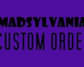 CUSTOM ORDER for Amanda Santo