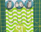 3pc Bookmark Clip set in Owl