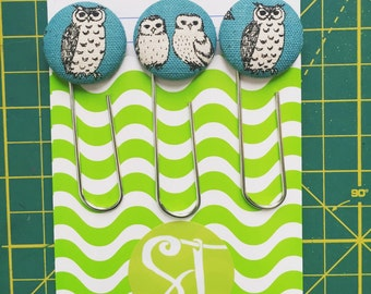 3pc Bookmark Clip set in Owl