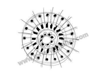 Thermofax Screen - Circle Motif 12