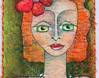 Pearl Necklace Art Quilt