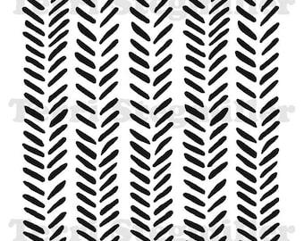"Herringbone 6x6"" Stencil"