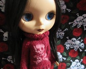 Blythe Sweater with Pink Skull