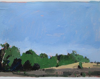 Venture Out, Original September Landscape Painting on Paper, Stooshinoff