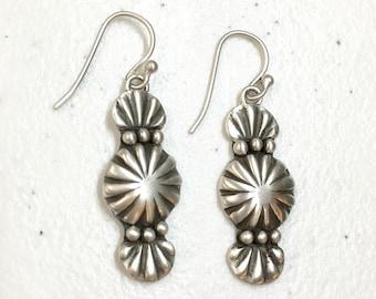 All Silver Drop Earrings