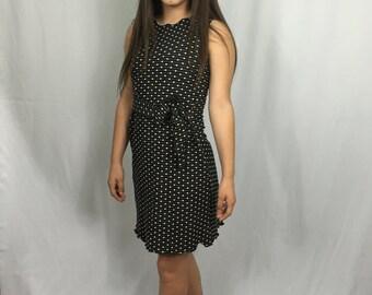 Luna Tie Dress Polka dot
