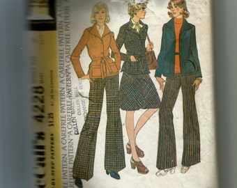 McCall's Unlined Jacket , Skirt, and Pants Pattern 4228