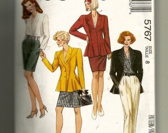 McCall's Misses' Lined Jacket, Blouse, Skirt, and Pants Pattern 5767