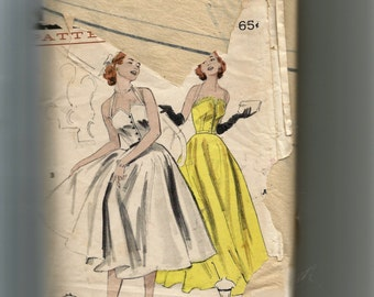 Butterick Misses' Bell-Skirted Day or Evening Dress Pattern 6001