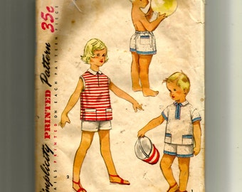 Simplicity Child's Boxer Shorts and Shirt Pattern 1150