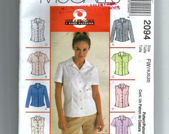 McCall's Misses'  Tops Pattern 2094