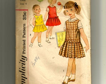 Simplicity Girls' Dress, Jumper and Blouse Pattern 2635