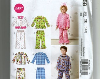 McCall's Toddler's Tops and Pants Pattern 6458